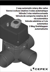 Manual Nueva Válvula de Compuerta Rotatoria actuada
