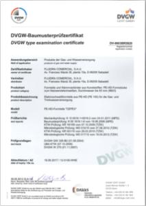 Certificados de accesorios PE100
