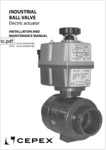 Manual Válvula de bola Industrial actuación eléctrica