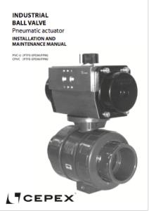 Manual Válvula de bola Industrial actuación neumática