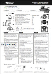 Valvola manuale rotante