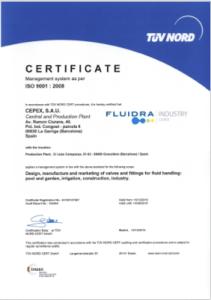 Cepex company certificates