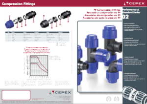 Compression fittings in PP