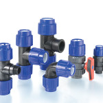 Photography of compression fittings in PP