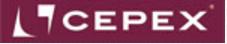 Cepex negative logo