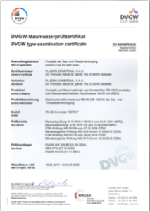 Accessory certificates PE100