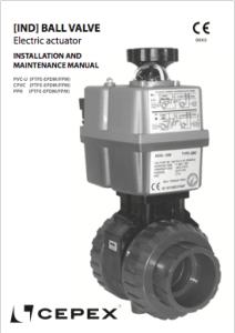 Manual Ball valve [IND] electric actuator