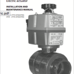 Manual Industrial ball valve electric actuator