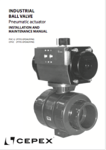 Manual Industrial ball valve pneumatic actuation