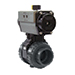 Actuated valves ball pneumatic