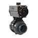 Actuated valves ball pneumatic